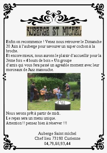 Concert à l'auberge Saint-Michel